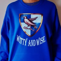 Ravenclaw House Sweatshirt. Witty and Wise Shirt. Fandom Shirt. Unisex Adult Crew Neck Sweatshirt.