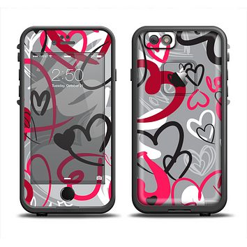 The Vector Love Hearts Collage Apple iPhone 6 LifeProof Fre Case Skin Set