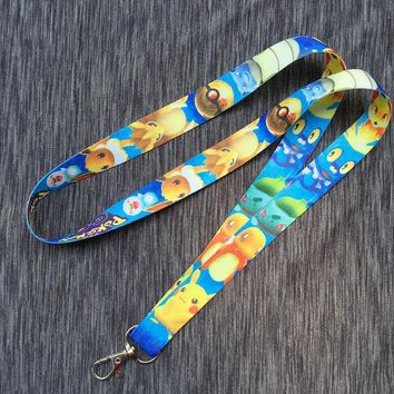 Cute Pokemon pikachu Squirtle Squad Lanyard Cartoon Cute Neck Strap for ID Badge Holders cosplay girls boy's gift bk-03