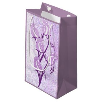 Purple Roses Gift Bag Small Gift Bag