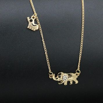 Elephant Mom and Baby Pendants Necklace by Baby in Motion