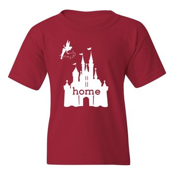 Original Disney Castle Is My Home Youth's T-Shirt