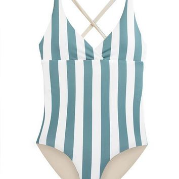 MAYLANA Collins Ocean Stripes One Piece
