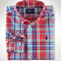 Ralph Lauren Childrenswear 8-20 Blake Plaid Long-Sleeve Woven Shirt
