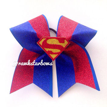 Superman Supergirl Cheer Bow/Cheerbow
