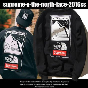 2016 New Arrival Supreme x The North Face Hip-hop Cotton Hoodies [9286555527]