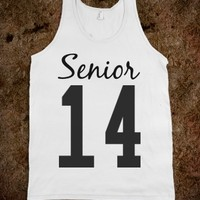 SENIOR 2014 TANK TOP T SHIRT TEE TSHIRT 14