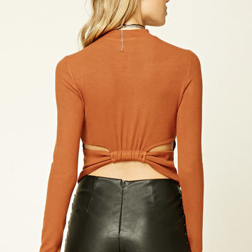 Cutout-Back Ribbed Top