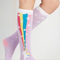 Pastel The Power of Magic Socks by ModCloth