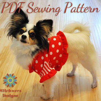 Dog Clothes Sewing Pattern  Small Dog T Shirt by StitchwerxDesigns