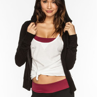 Full Tilt Sport Womens Hooded Jacket Black  In Sizes
