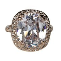 Fashion Plaza 18k Gold Plated Use Cubic Zirconia Crystal Created Diamond Engagement Ring R306