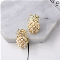 Pineapple pineapple flower earrings fashion wild new 17 earrings