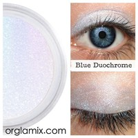 Blue Duochrome Eyeshadow Effects