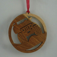 Jeep 4x4 Off Road Christmas Ornament Handmade From Cherry Wood, Four Wheelin, Hill Climbing, Rock Crawling, Mud Bogging