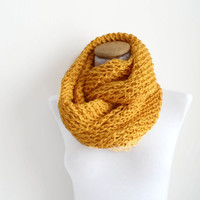 Yellow Cowl, soft and flexible cowl,  Neckwarmer, scarf, infinity...