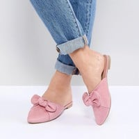 Park Lane Flat Bow Mules at asos.com