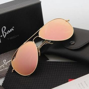 CREYGE2 Beauty Ticks Ray Ban Aviator Sunglasses Yellow Flash Gold Frame Rb3025 Sunglasses