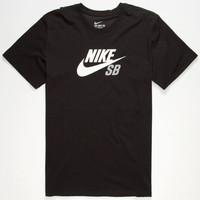 Nike Sb Dri-Fit Icon Logo Mens T-Shirt Black  In Sizes