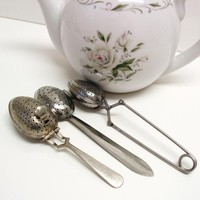 Tea Infusers Tea Spoon Infuser Tea Strainers Lot of by WhimzyThyme