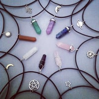 The Moon Face Choker! - (Silver Half Moon Crescent Necklace)