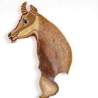 Fairground Wooden Goat Head / Kids Bedroom, Nursery Decor, Fairground Art