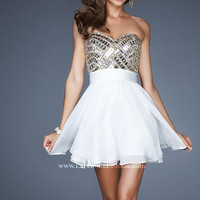 Bella Boutique :: *Dresses :: Prom Dresses :: Short Prom Dresses :: La Femme 18445 Dress