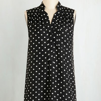 Long Sleeveless Girl about Scranton Tunic in Polka Dots