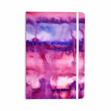 "Viviana Gonzalez ""Improvisation 22"" Magenta Purple Watercolor Everything Notebook"