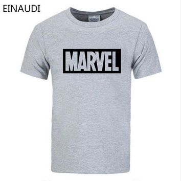 DCCKFS2 EINAUDI 2018 Summer New Fashion Brand Clothing Tshirt Men MARVEL Print Short Sleeve T Shirt Men Top quality Casual T-Shirts