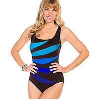 Inches Away Colorblock Fan Tank One-Piece