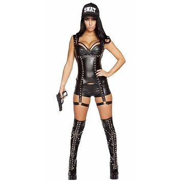 Sexy SWAT 4 Gamer Babe Halloween Costume