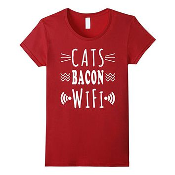 Funny Cats, Delicious Bacon and WiFi Priorities Tshirt