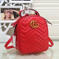 GUCCI Women Fashion Trending Leather Backpack Daypack Bookbag G
