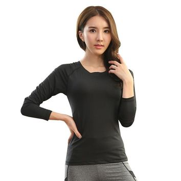 Long Sleeve Breathable Running T-Shirt