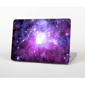 The Violet Glowing Nebula Skin Set for the Apple MacBook Air 13""