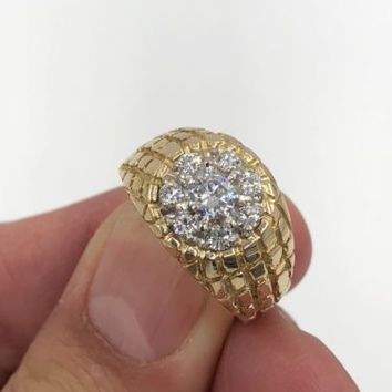 Men's Vintage .70 cts Diamond Cluster Ring VVS1