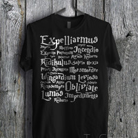 Harry Potter Spells - zzdf Unisex T- Shirt For Man And Woman / T-Shirt / Custom T-Shirt