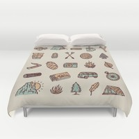 Lets Go Camping Duvet Cover by WEAREYAWN