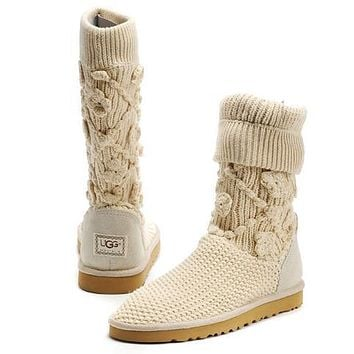 UGG Women Fashion Wool Winter Snow Boots High Boots Shoes