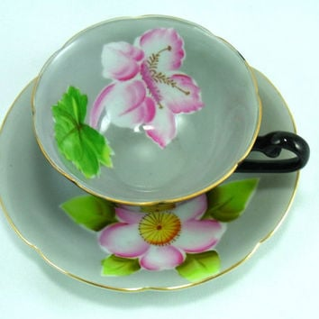 Vintage Trimont China Teacup and Saucer Made in Occupied Japan