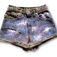 Levi's High Waisted Galaxy Shorts Studded