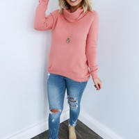 Ready When You Are Sweater: Coral Pink