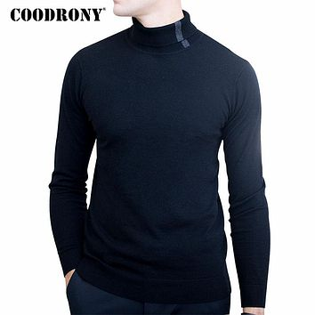 Christmas Sweater Men Soft Warm Merino Wool Sweaters Casual Turtleneck Pullover Men Knitted Cashmere Pull Home
