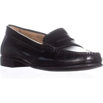 Jack Rogers Quinn Slip On Penny Loafers, Black, 7 US