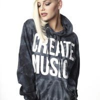 Create Music - Pullover Hood (Tie-Die)- Womens - Aspire And Create - Brands - Paper Alligator