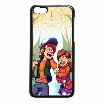 gravity falls print by krooked glasses ea71330f-9096-4651-935f-ef18c749cded FOR iPhone 5C CASE *01*