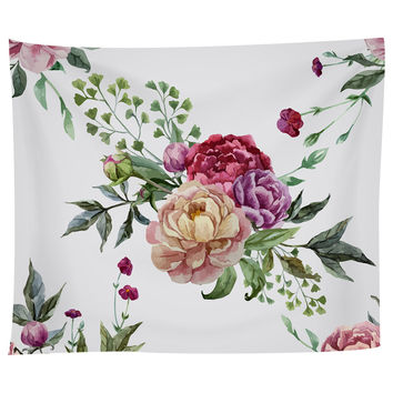 Pretty Peonies Tapestry