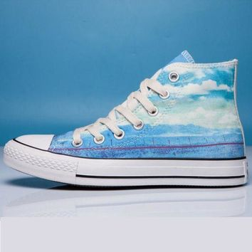VONR3I Converse Print All Star Sneakers for Unisex Hight tops sports Leisure Comfort Shoes Hi