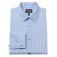 Apt. 9 Slim-Fit Plaid Easy-Care Point-Collar Dress Shirt